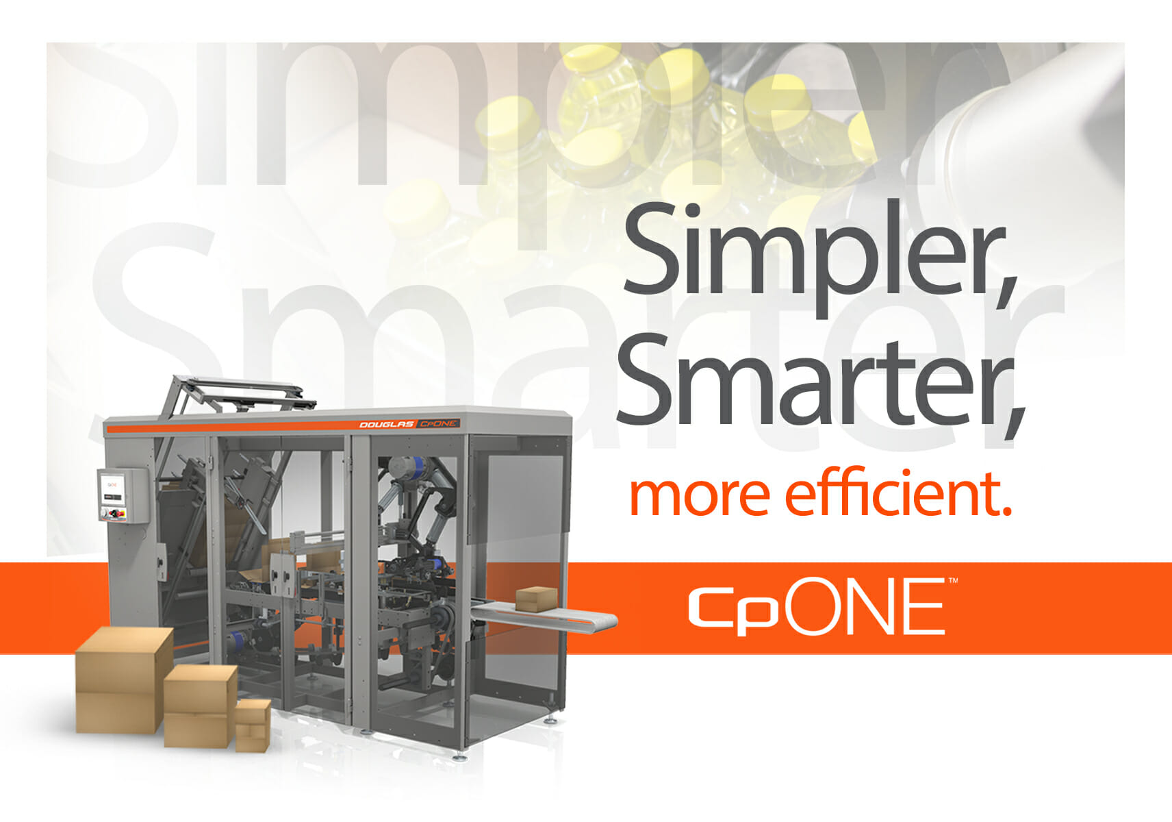 CpONE case & tray packer simplifies case packing operations